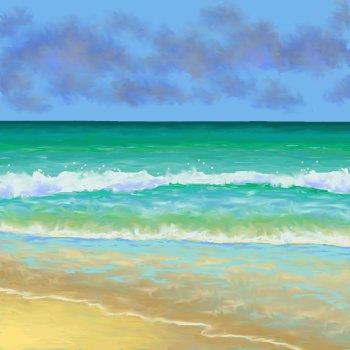 Sea and Sand 5 Print