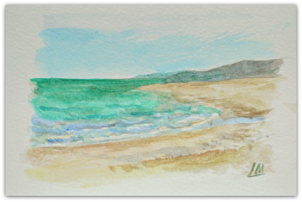 Sea Palling - sea study postcard 2