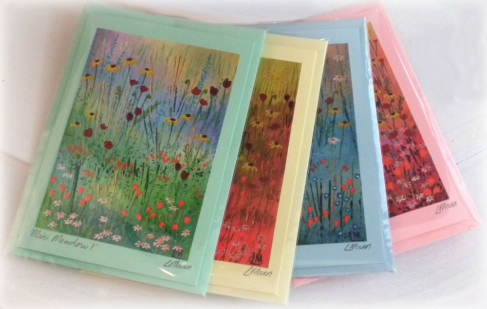 Set of 4 Mini Meadow Cards
