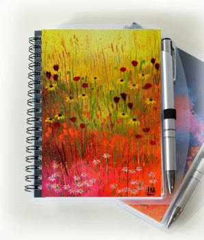 Mini Meadow 2 Notebook and Silver Pen