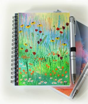 Mini Meadow 1 Notebook and Silver Pen