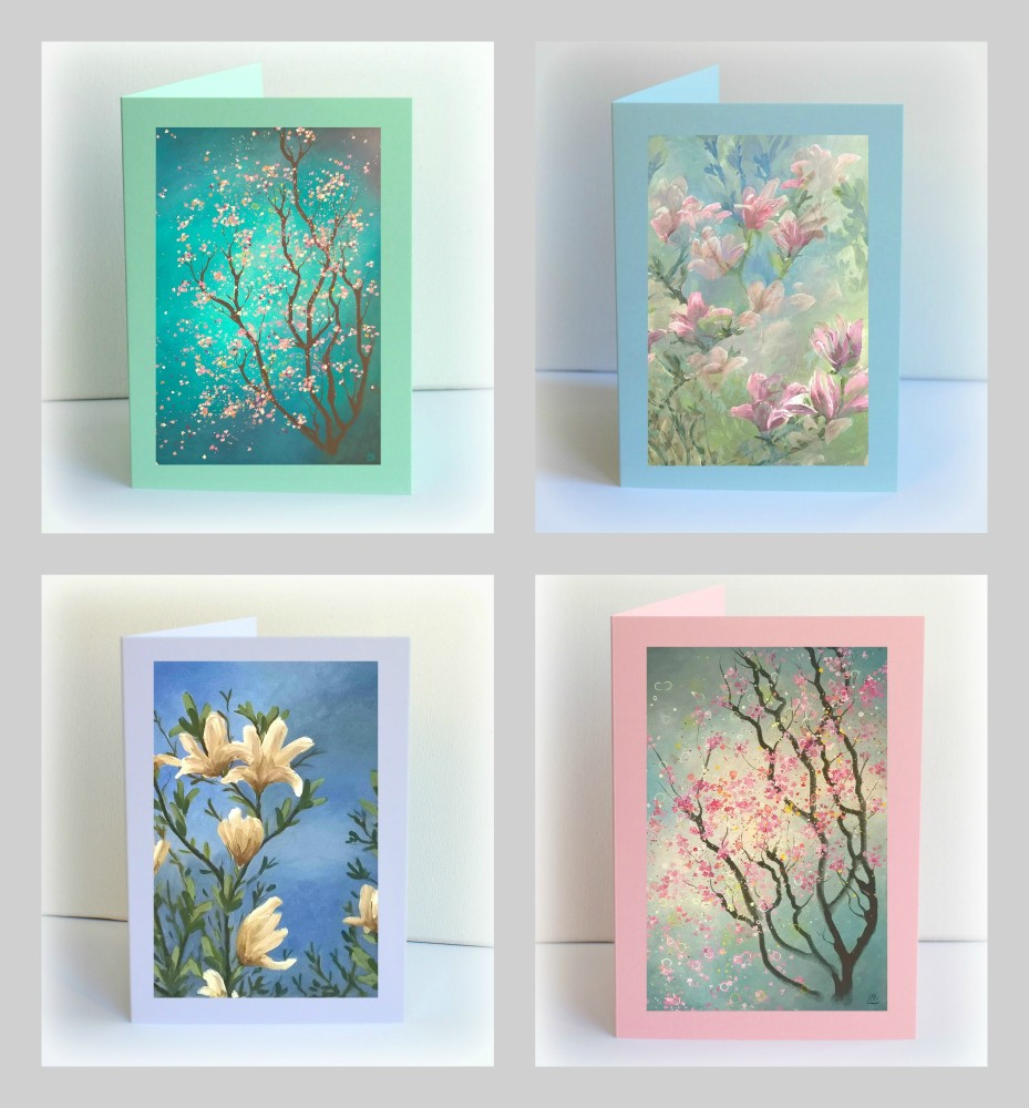 Set of 4 Blossom Cards