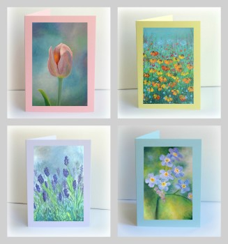 Set of 4 Cottage Garden Cards