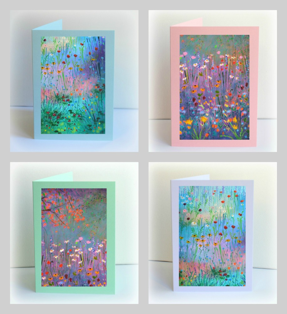 Set of 4 Wild Garden Cards