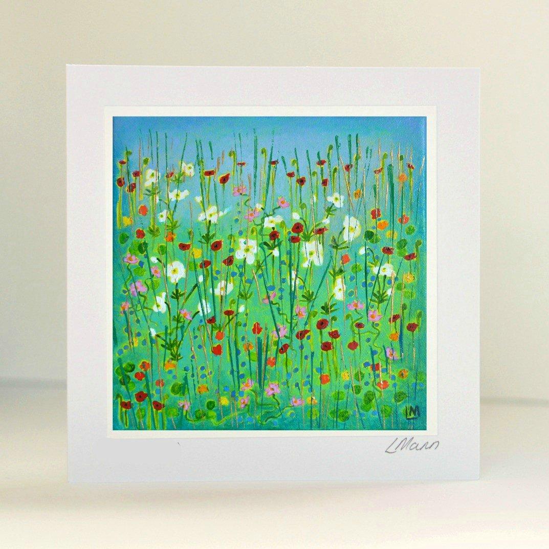 Happy Blooms Greetings Card