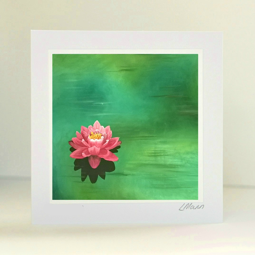 Water Lily Greetings Card