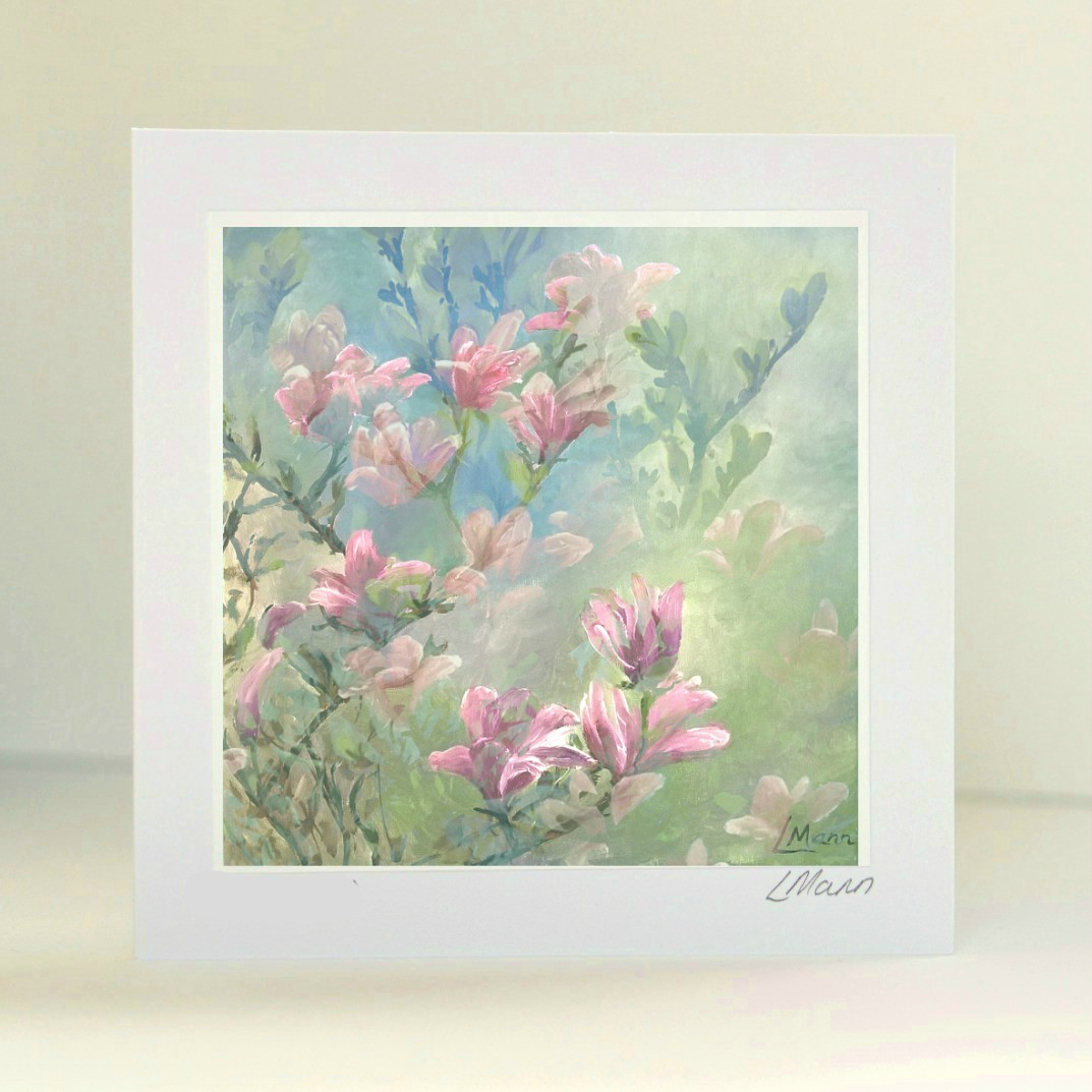 Magnolias Greetings Card