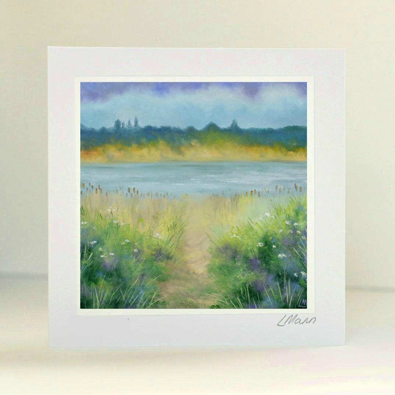 Rutland Water Greetings Card