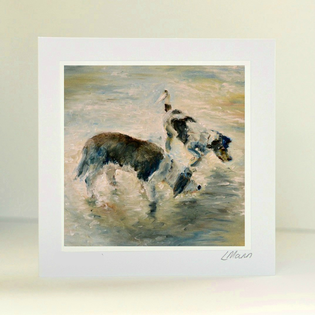 A Day on the Beach Greetings Card