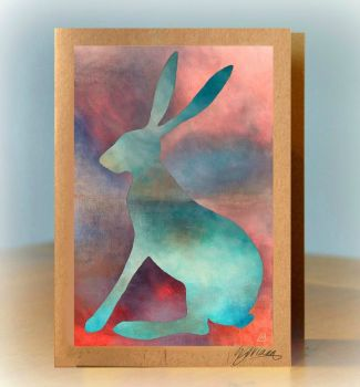 Calm Hare Greetings Card