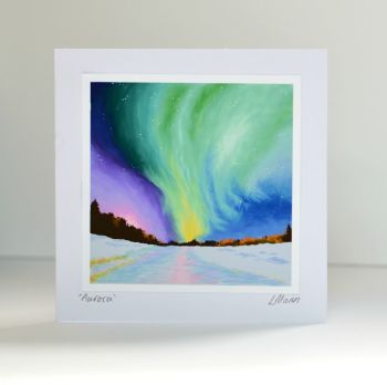 Aurora Greetings Card