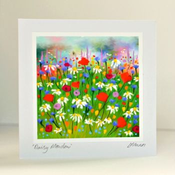 Daisy Meadow Greetings Card