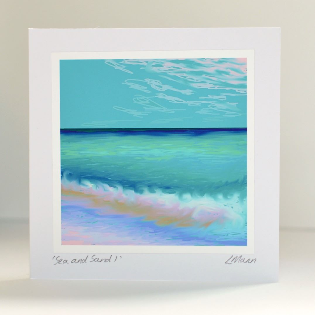 Sea and Sand 1 Greetings Card