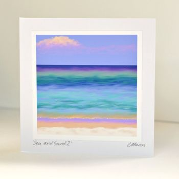 Sea and Sand 2 Greetings Card