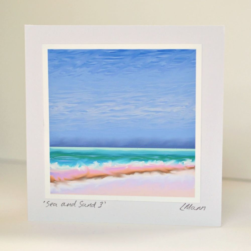 Sea and Sand 3 Greetings Card