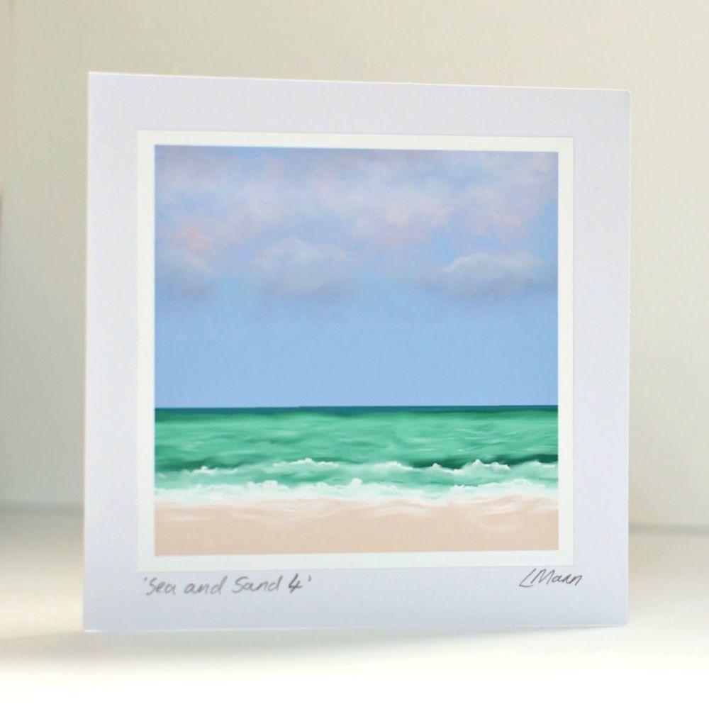 Sea and Sand 4 Greetings Card