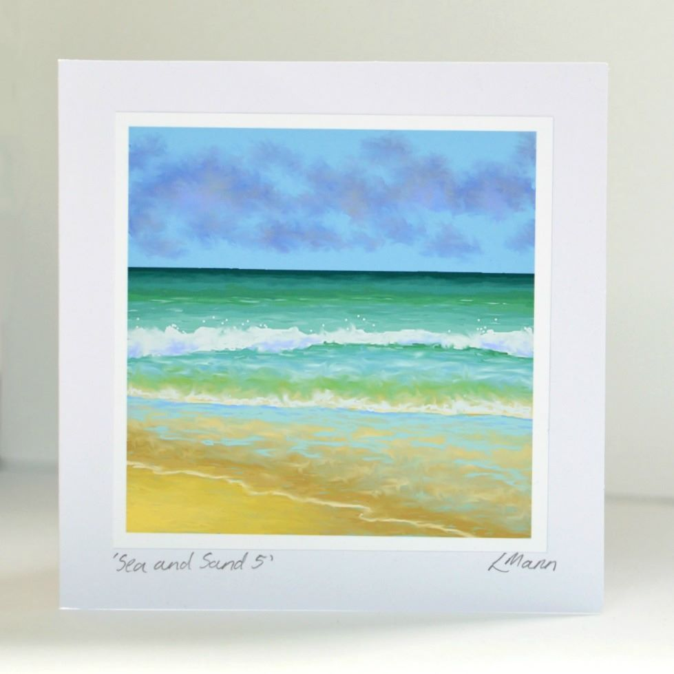 Sea and Sand 5 Greetings Card