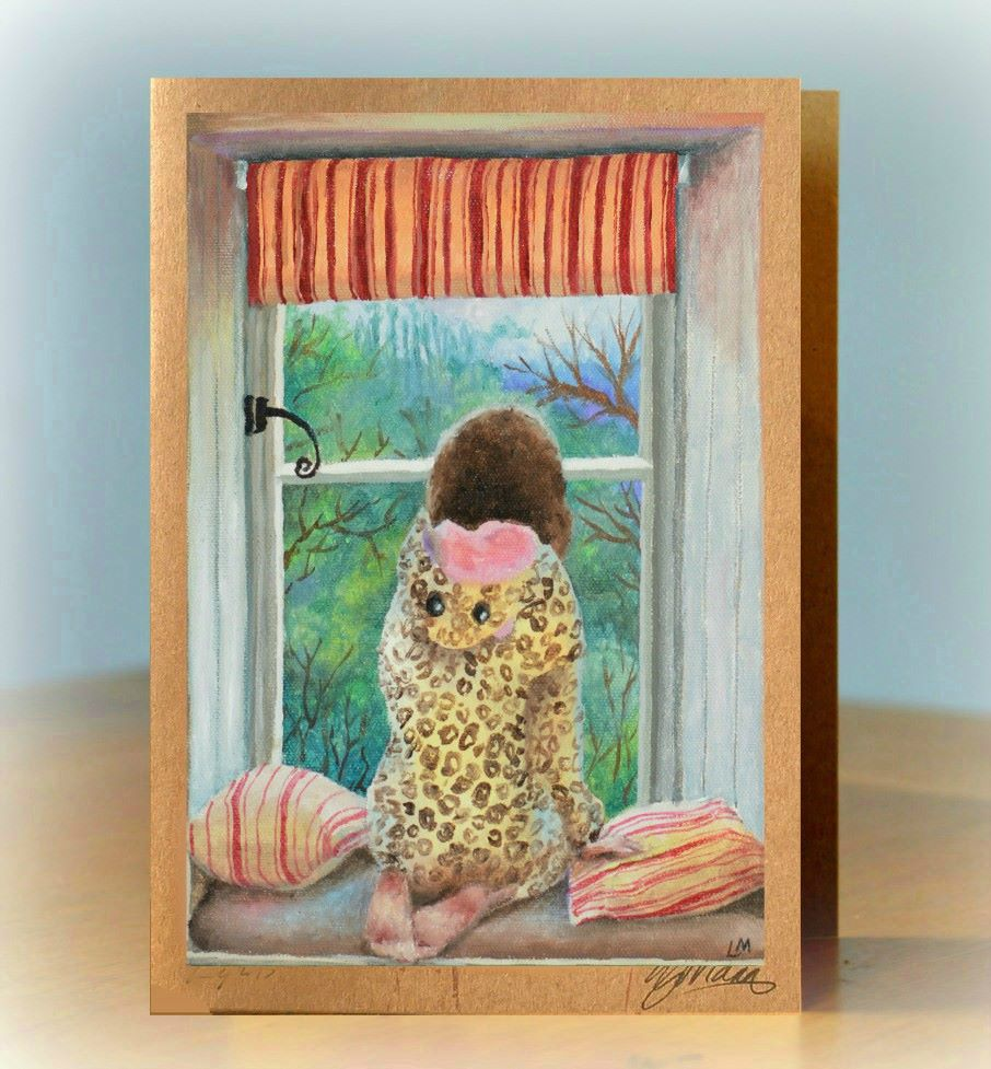 At the Window Greetings Card