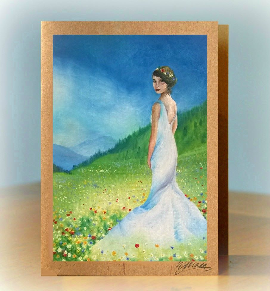 Wedding Dress Greetings Card