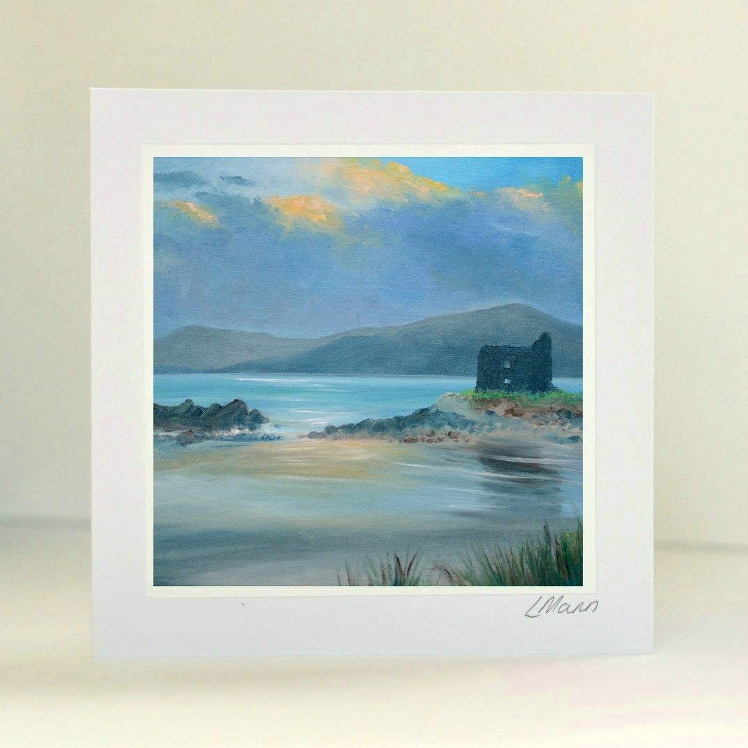 Ruined Castle Greetings Card
