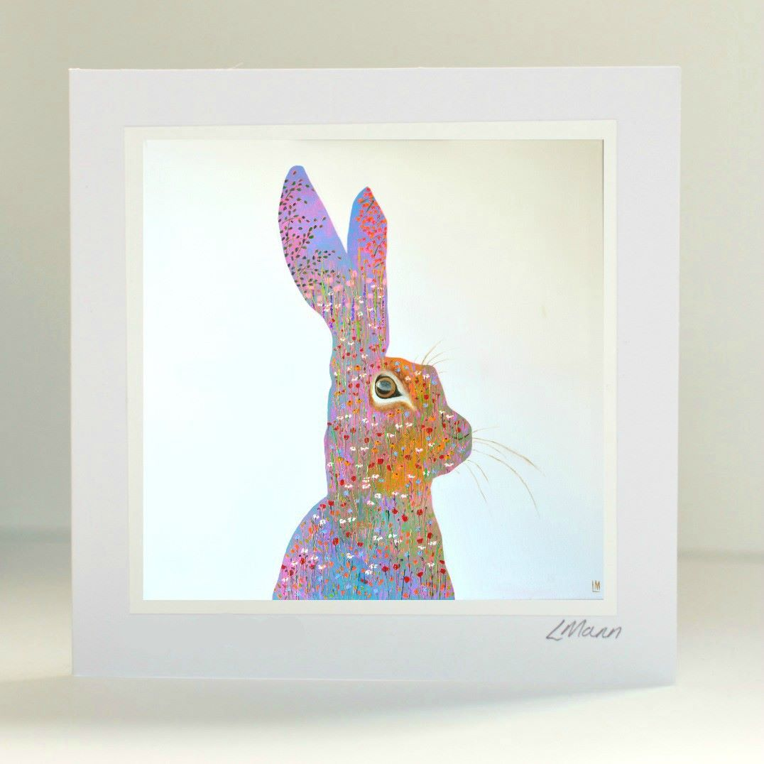 Happy Hare Greetings Card