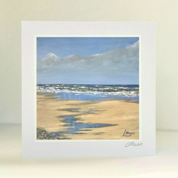 Norfolk Beach Greetings Card