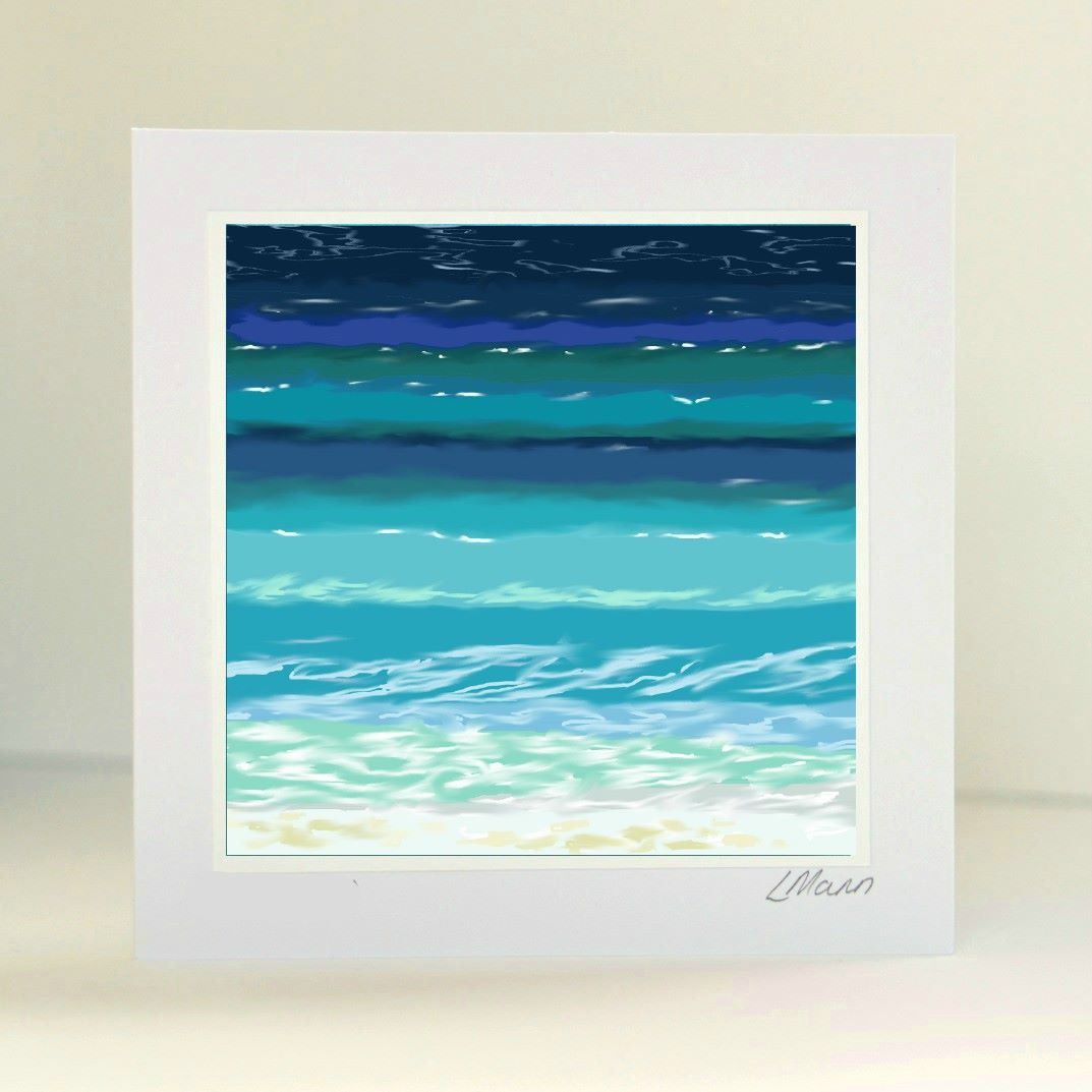 Sea and Sand 7 Greetings Card