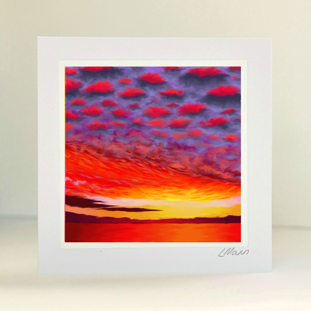 Sunset 1 Greetings Card