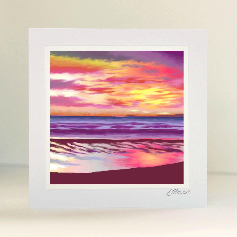 Sunset 2 Greetings Card