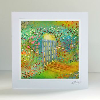 Garden Gate Greetings Card