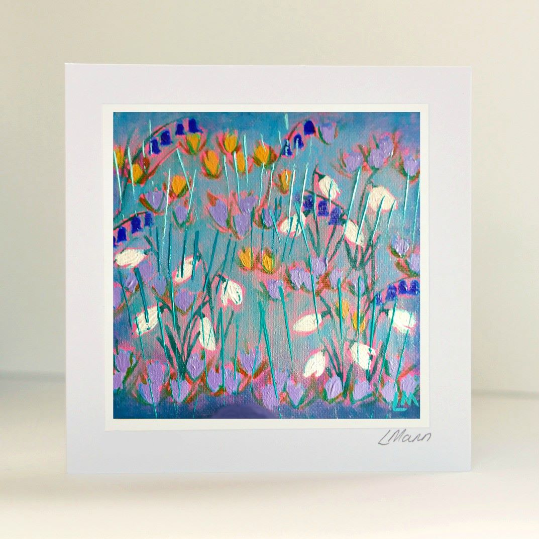 Snowdrops Greetings Card