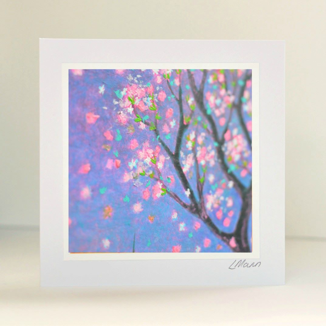 Pink Blossom Greetings Card