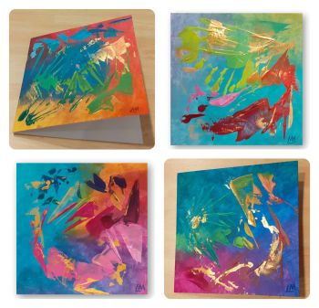 Abstract Cards - A Gift and a Card in One