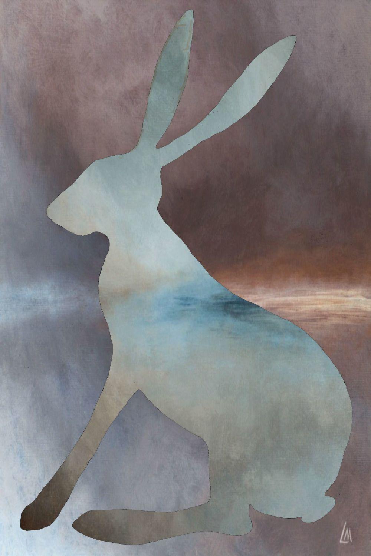 Misty Hare Print