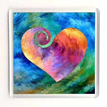 Rainbow Heart Coaster