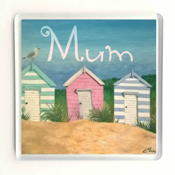Beach Hut Coaster - Mum