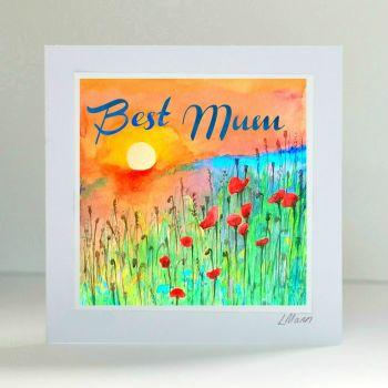 Best Mum - Sunrise Card