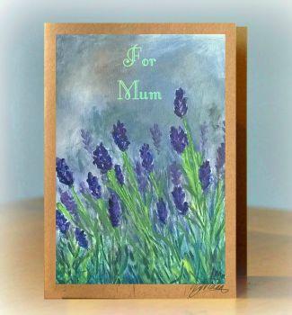 For Mum Lavender Card