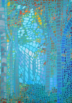 Mosaic Forest Print - Turquoise