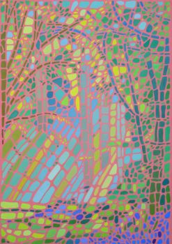 Mosaic Forest Print - Pink