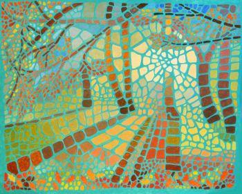 Forest Mosaic Print - Autumn Light