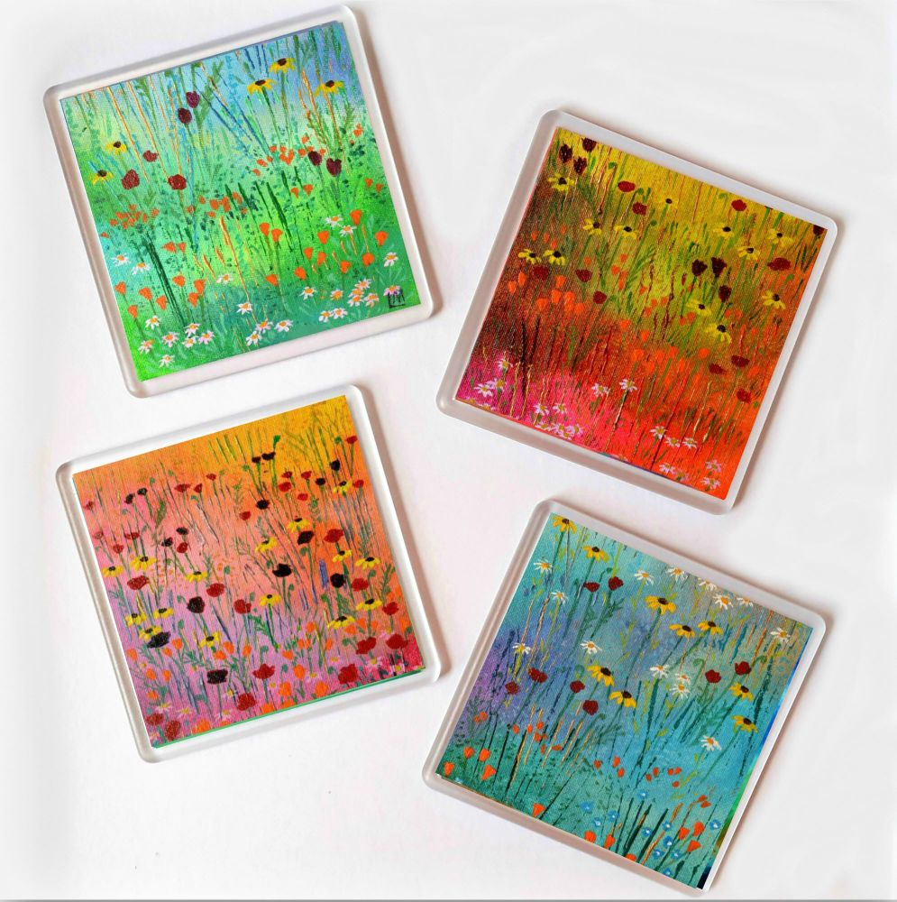 Set of 4 Mini Meadow Coasters