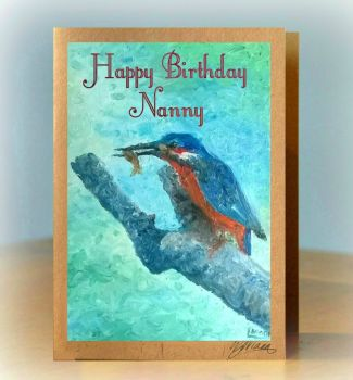 Personalised Kingfisher Card