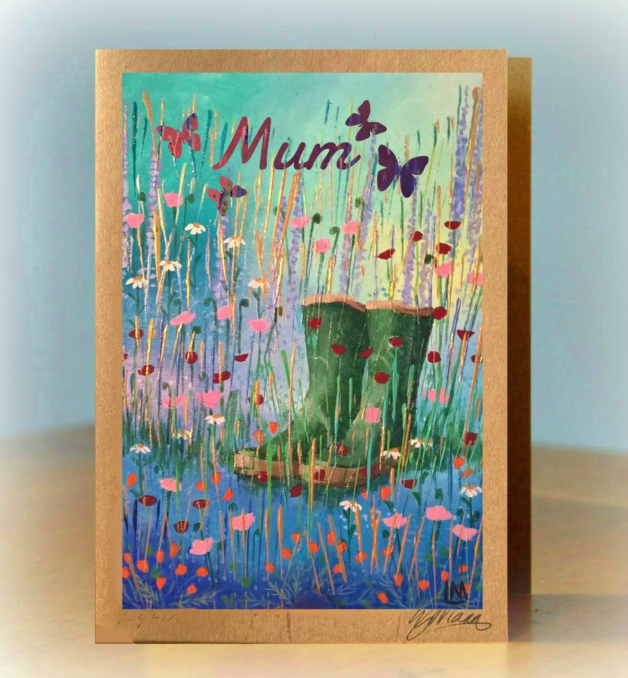 Personalised Wellies Card