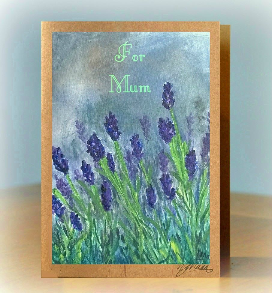 Personalised Lavender Card