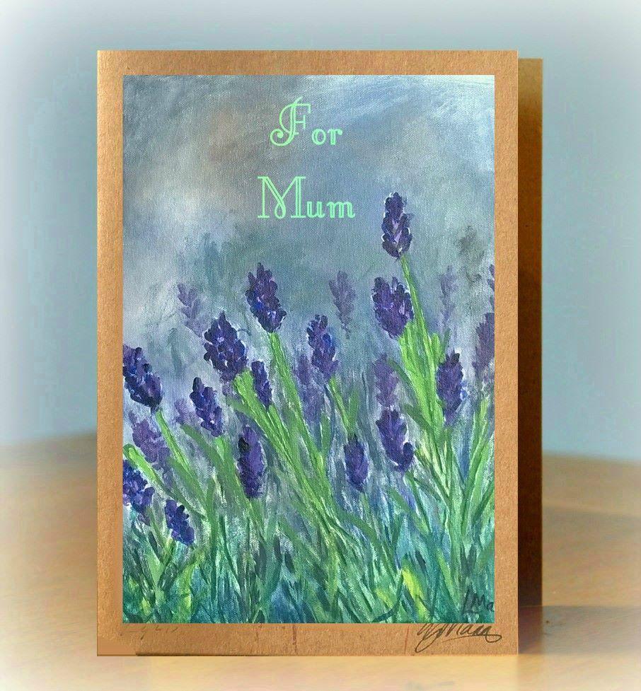 Personalised Lavender Card