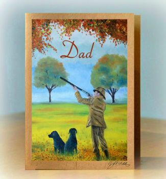 Personalised Shooting Dogs Card