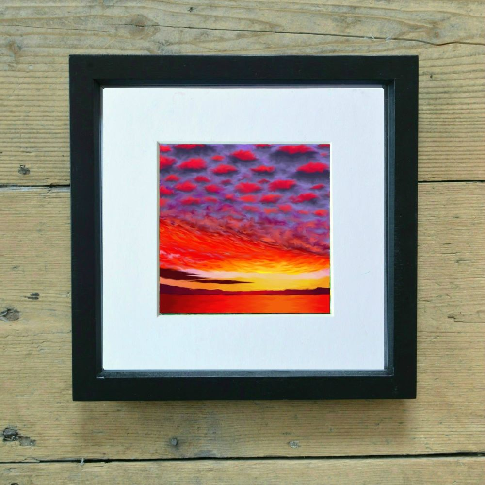 Red Sunset Mini Print