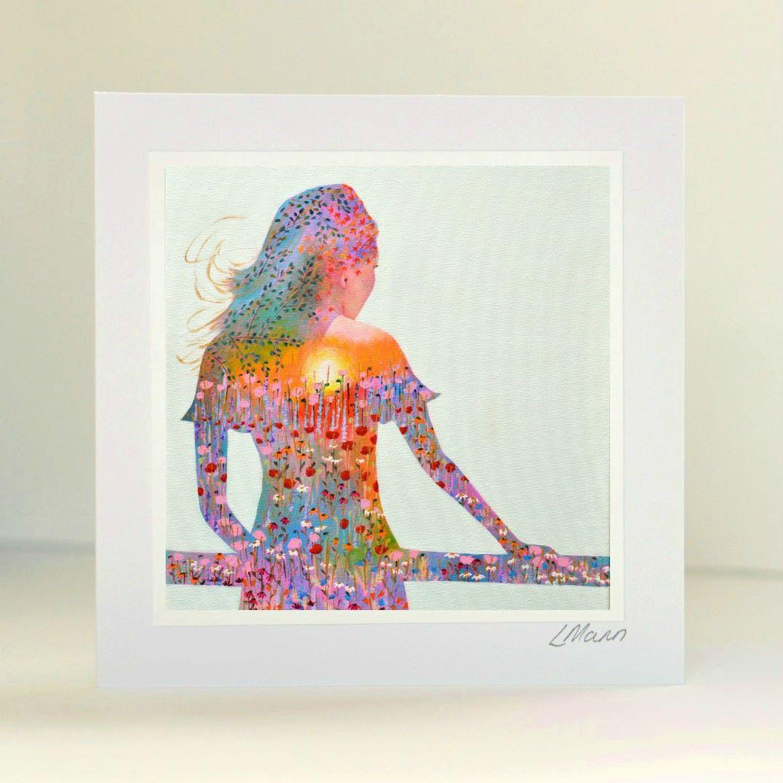 Sunshine Girl Greetings Card