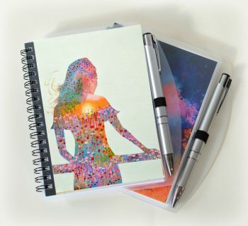 Sunshine Girl Notebook and Silver Pen